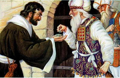 Today's Mass: And They Paid Him Thirty Pieces of Silver.